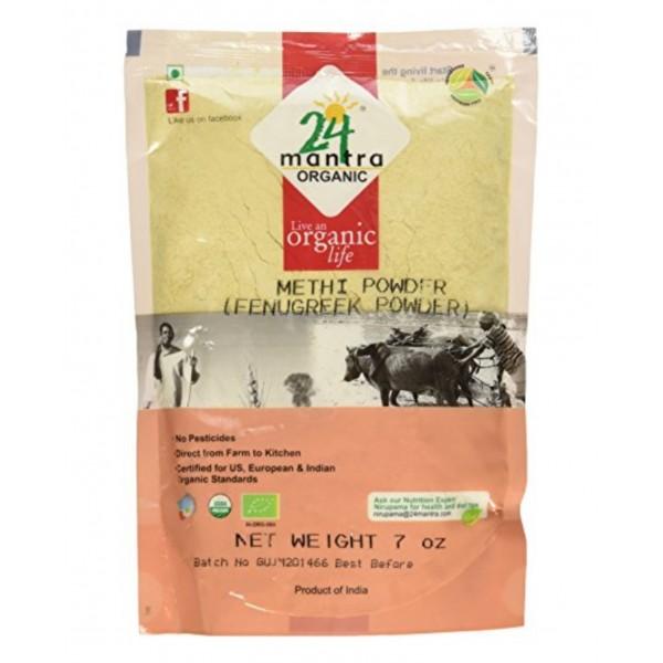 24 Mantra Organic Methi Powder 7 oz / 200 Gms