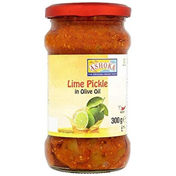 Ashoka Lime Pickle in Olive Oil 10.6 Oz / 300 Gms