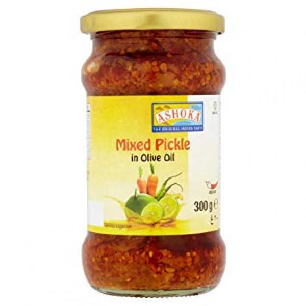 Ashoka Mixed Pickle in Olive Oil 10.6 Oz / 300 Gms