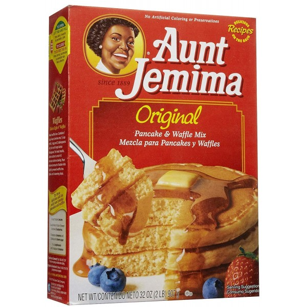Aunti Jemina Pancakes and Wafels Mix 32 Oz / 907 Gms
