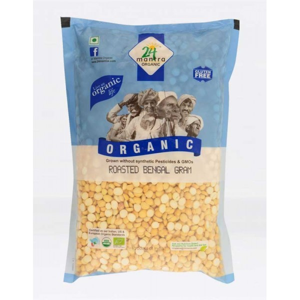 24 Mantra Organic Roasted Gram 2 Lb / 908 Gms