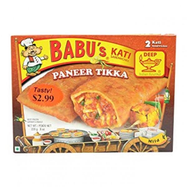 Babu's Kati Paneer Tikka 2 Pieces / 226 Gms