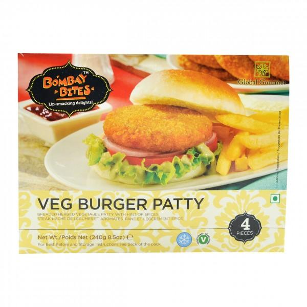 Bombay Bites Veg Burger Patties 4 Pieces