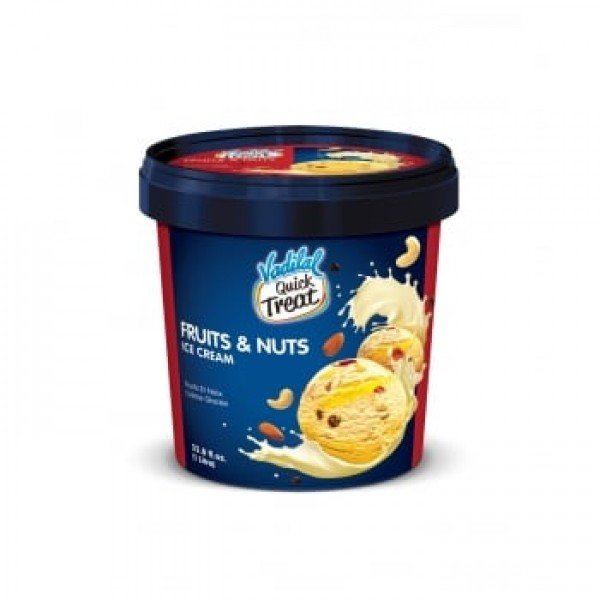 Vadilal Fruits & Nuts Ice Cream 1 L