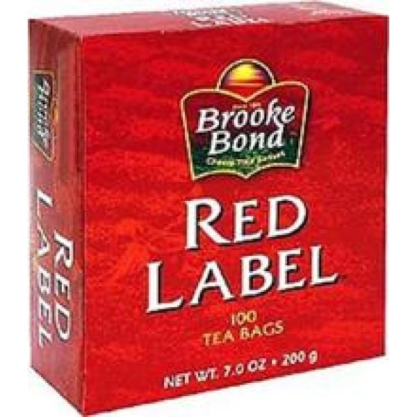 Brooke Bond Red Label 100 Tea Bags 7 OZ / 198 Gms