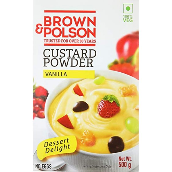 Brown and Polson Custard Powder Vanilla 500 Gms