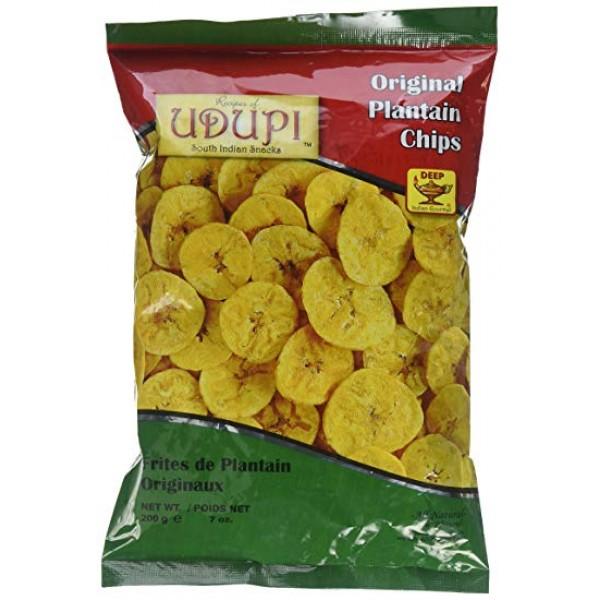 Udupi Original Plantain Chips 7 Oz / 200 Gms