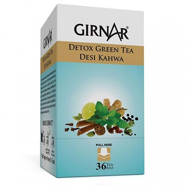 Girnar Green Tea Desi Kahwa 3.17 oz / 90 Gms 36 Bags