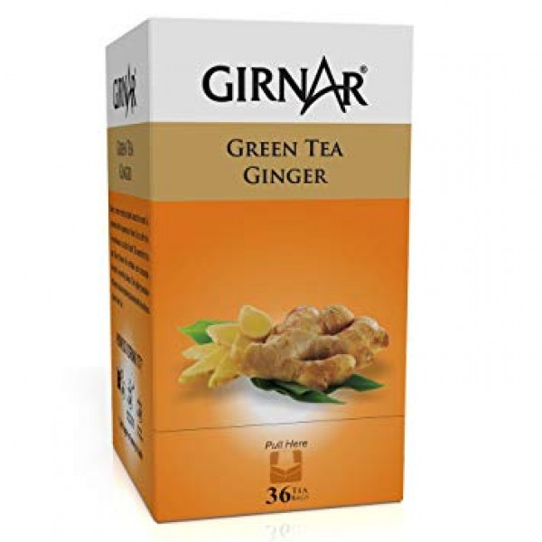Girnar Green Tea Ginger 36 Tea Bags