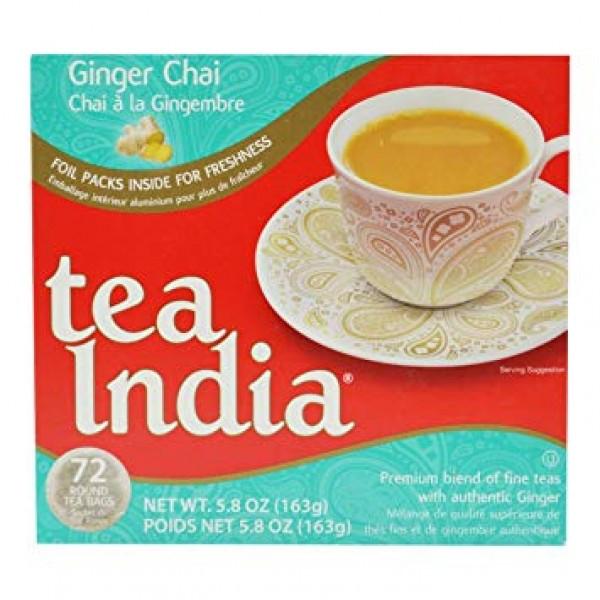 Tea India Ginger Chai 5.8 OZ / 165 Gms