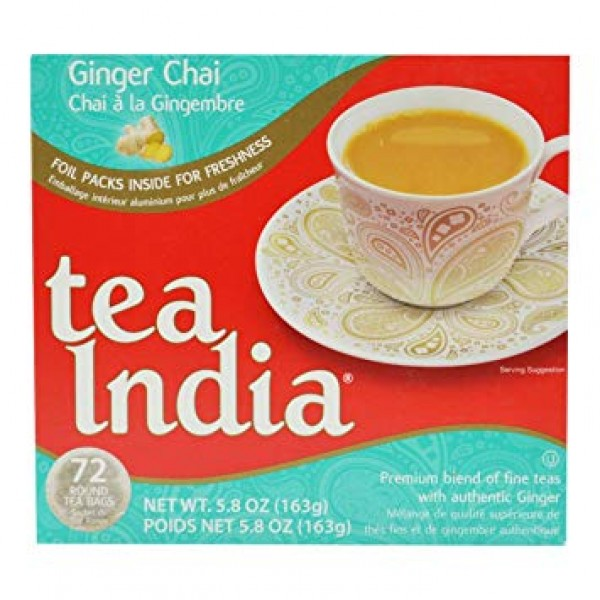 Tea India Ginger Chai 5.8oz/163Gms