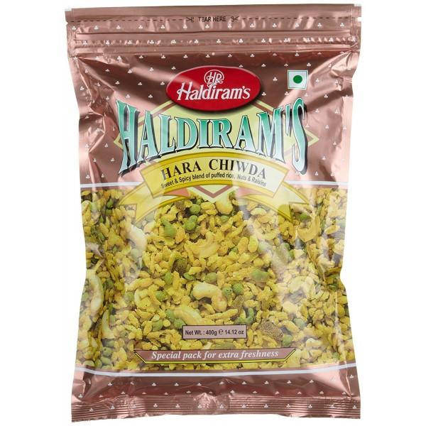 Haldiram's Hara chiwda 14.12 Oz / 400 Gms