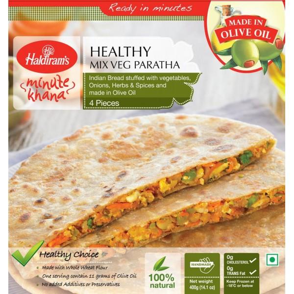 Haldiram's Healthy Mix Veg Paratha 4 Pieces