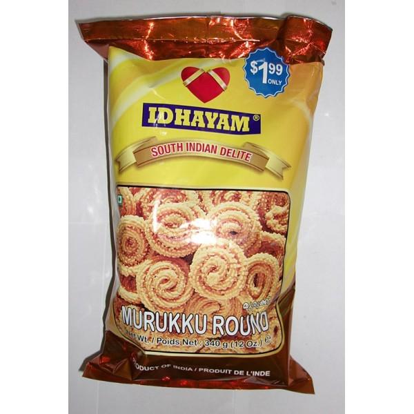 Idhayam Spicy Murukku Round 12 Oz / 340 Gms