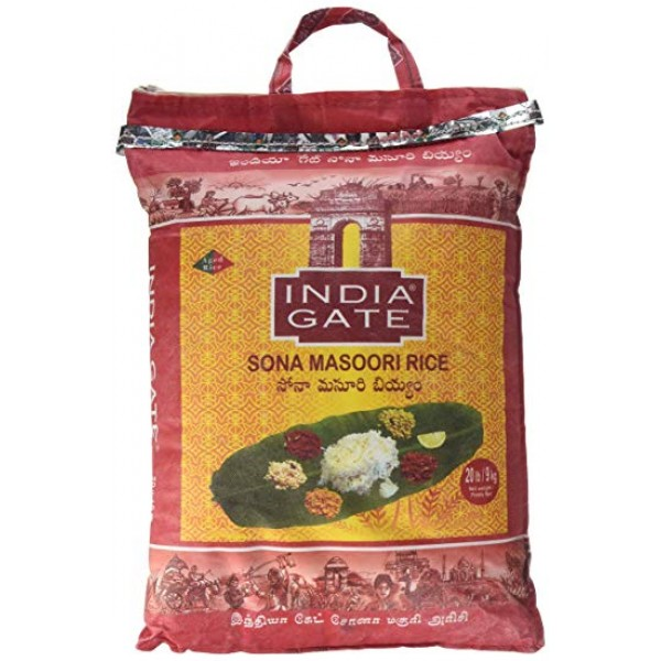 India Gate Sona Masoori  Rice 20lb