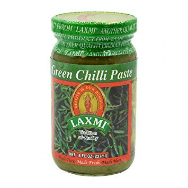 Laxmi Green Chilly Paste 8 Oz / 237 ml