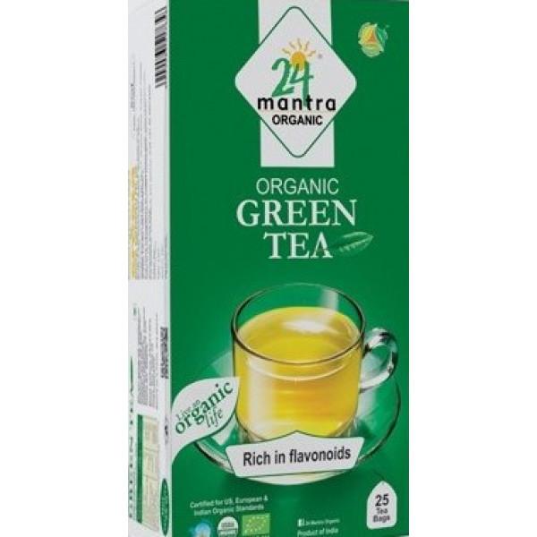 24 Mantra Organic Green Tea 1.32 oz / 37.5 Gms 25 Bags