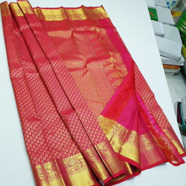 Pure silk kamchivaram and silk mark certified sarees