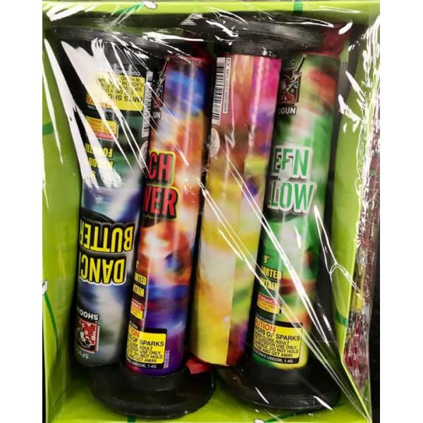 "Diwali Firecrackers-9"" Assorted Fountain /Anar /4 pcs"