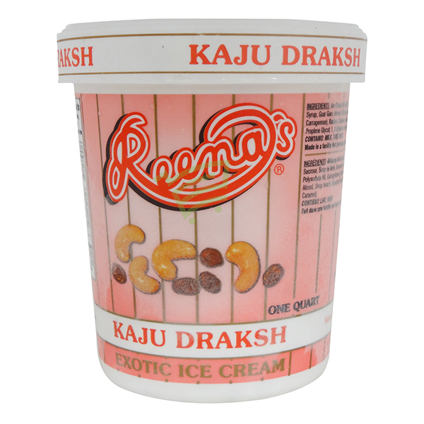 Reena Kaju Draksh Ice Cream 1 Quat. / 946 ml