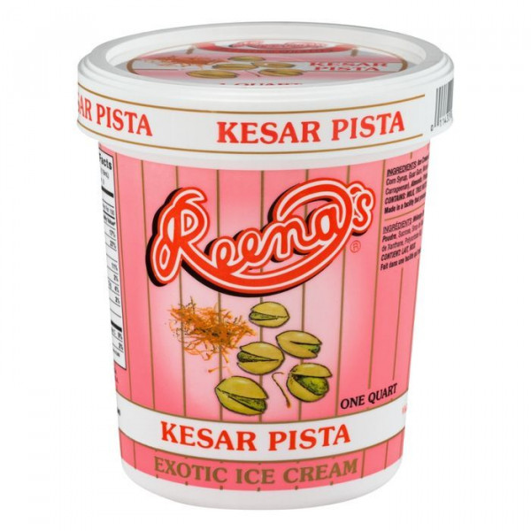 Reena Kesar Pista Ice Cream 1 Quat. / 946 ml