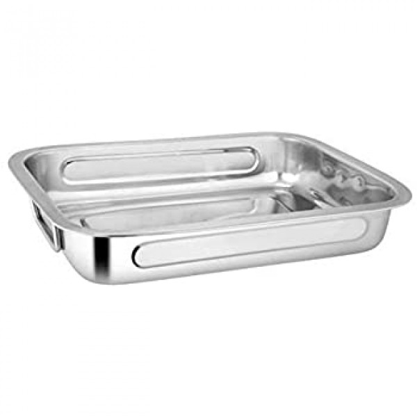 Krasdale Medium Aluminium Oval Tray/16.5X11.5X2.5