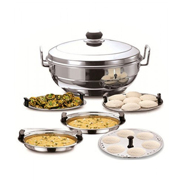 Vinod Wire stand with 4 Dhokla Plate+4 Idli Plate