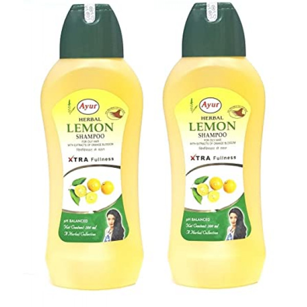 Ayur Herbal Lemon Shampoo 16.9 OZ / 500 Ml