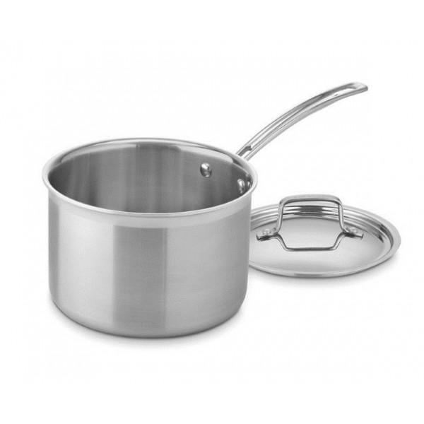 Super Shyne Stainless Steel Sauce Pan 6.5 Inches  Dishwasher Safe and easy to clean/Suitable for induction & LPG