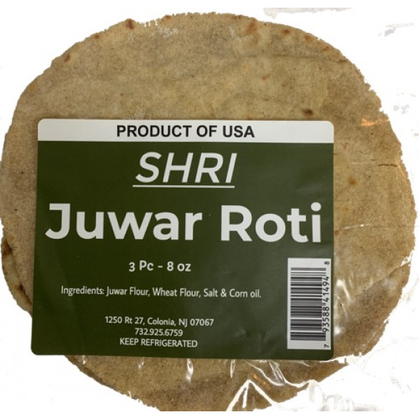 Shri Foods Juwar  Roti 3Pcs 8 oz ( Fresh Cooked)