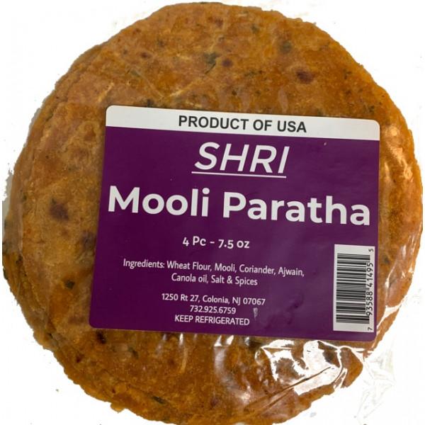 Shri Foods Mooli  Paratha 4 Pcs / 230  Gms ( Fresh Cooked)