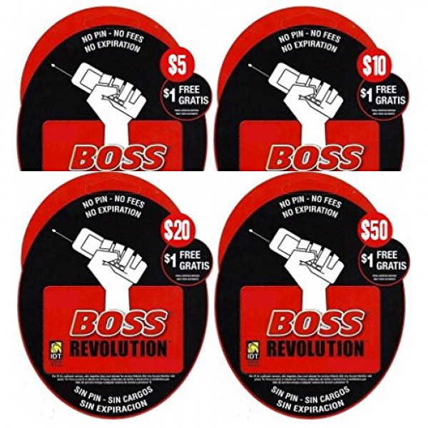 Boss Revolution phone Pinless Calling card - $5