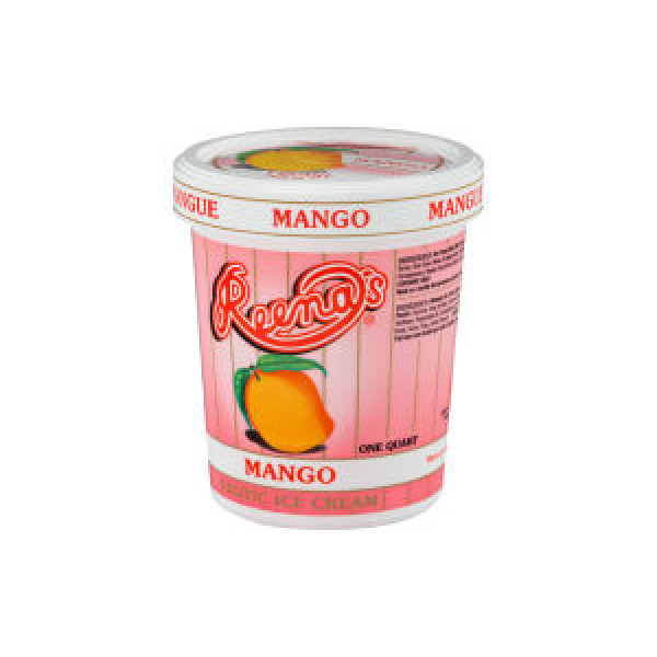Reena Mango Ice Cream 1/2 Gallon / 1.8 L