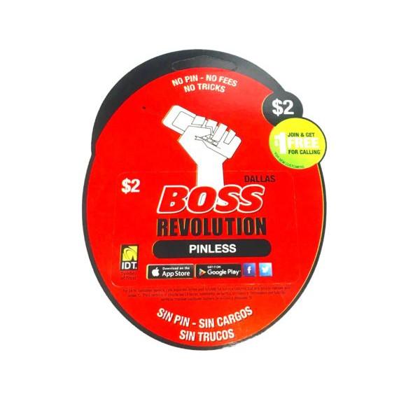 Boss Revolution phone Pinless Calling card - $2