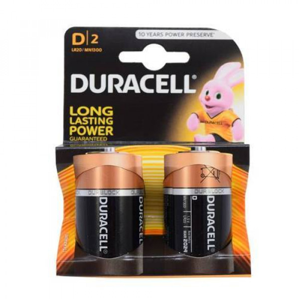 D-2  Duracell  battery/Two Packs