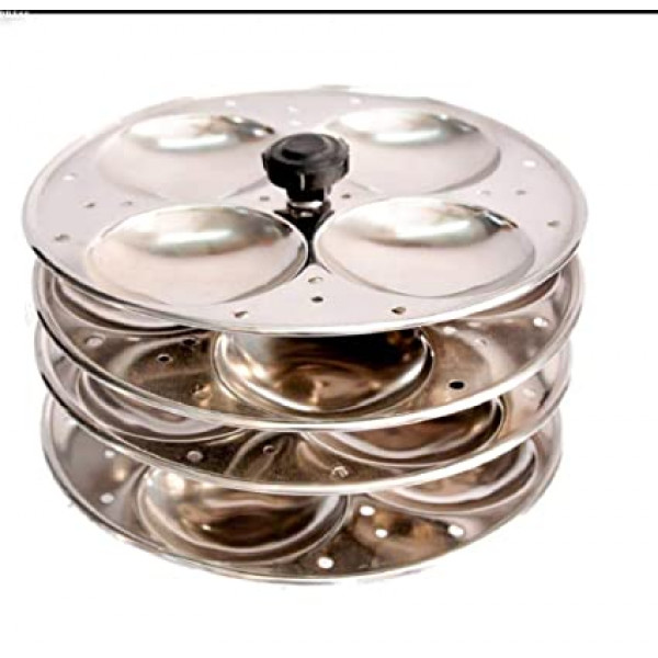 Super Shyne Stainless steel Idli Stand/Mini Idli with extra knob