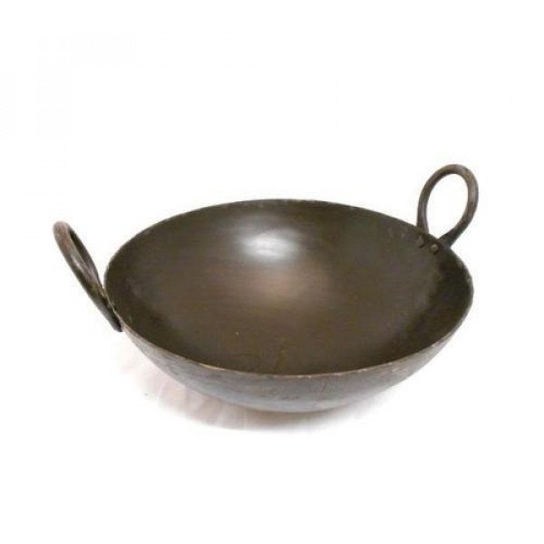 Noor 7  inches Heavy Iron  Kadai / Frying Pan  for best cooking result