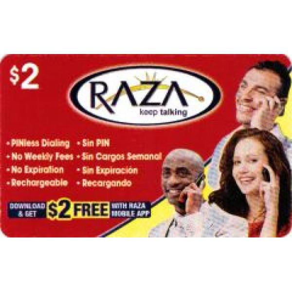Raza  Phone  Calling card - $2