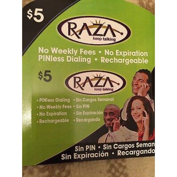 Raza  Phone  Calling card - $5