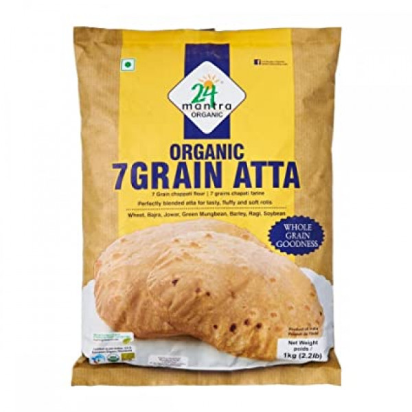 24 Mantra Organic 7 Grain Atta 2.2 Lb / 1 Kg