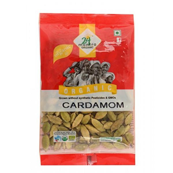 24 Mantra Organic Cardamom 3.5 oz / 100 Gms