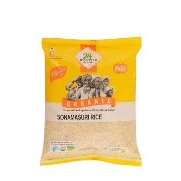 24 Mantra Organic Brown Sona Mansuli 2.1 Lb / 1 Kg