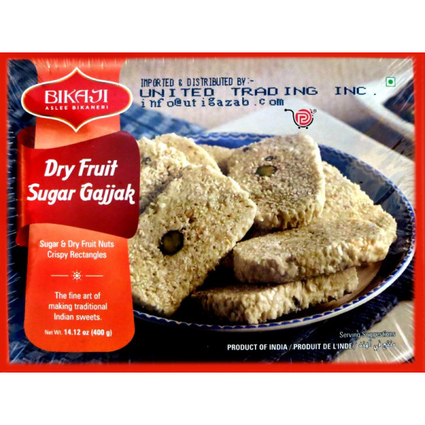 Bikaji Dry Fruits Sugar Gajjak 14 Oz / 400 Gms