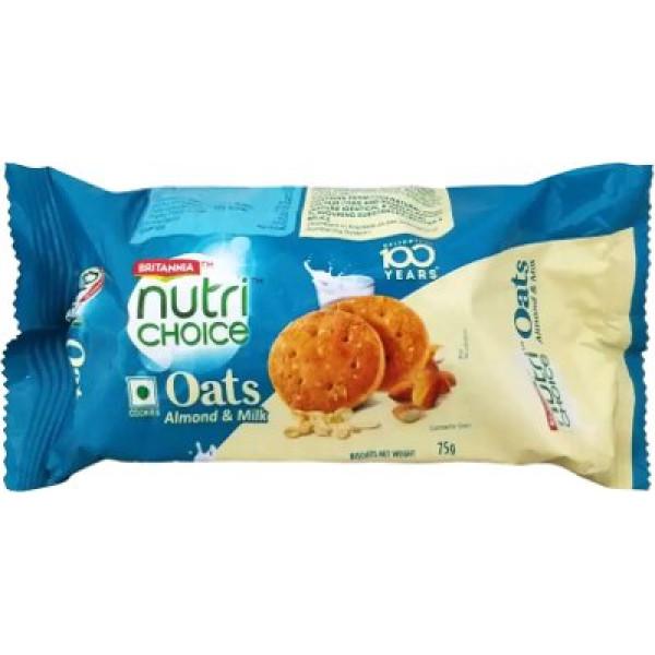 Britannia Nutri Choice Almond & Milk Cookies 75 Gms