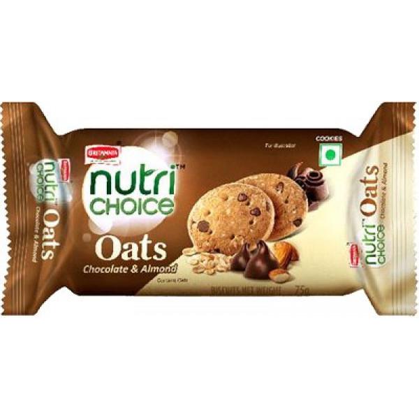Britannia Nutri Choice Chocolate & Almond Cookies 75 Gms