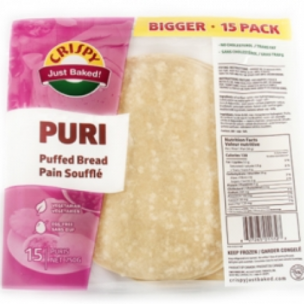 Crispy Puri Puffed Bread 15 Pieces