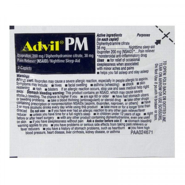 Advil PM  Pain& Fever Relief Medicine  (2pk)
