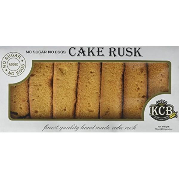 KCB Cake Rusk  No Sugar Added 10 OZ/283Gms