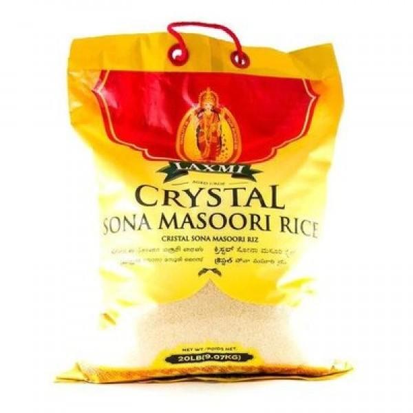 Laxmi Crystal Sona Masoori Rice 20LB