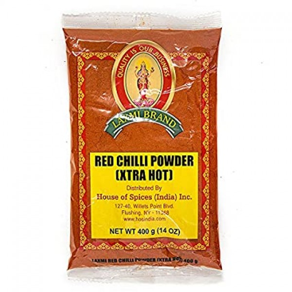 Laxmi Extra Hot Chilli Powder 14 Oz / 400 Gms